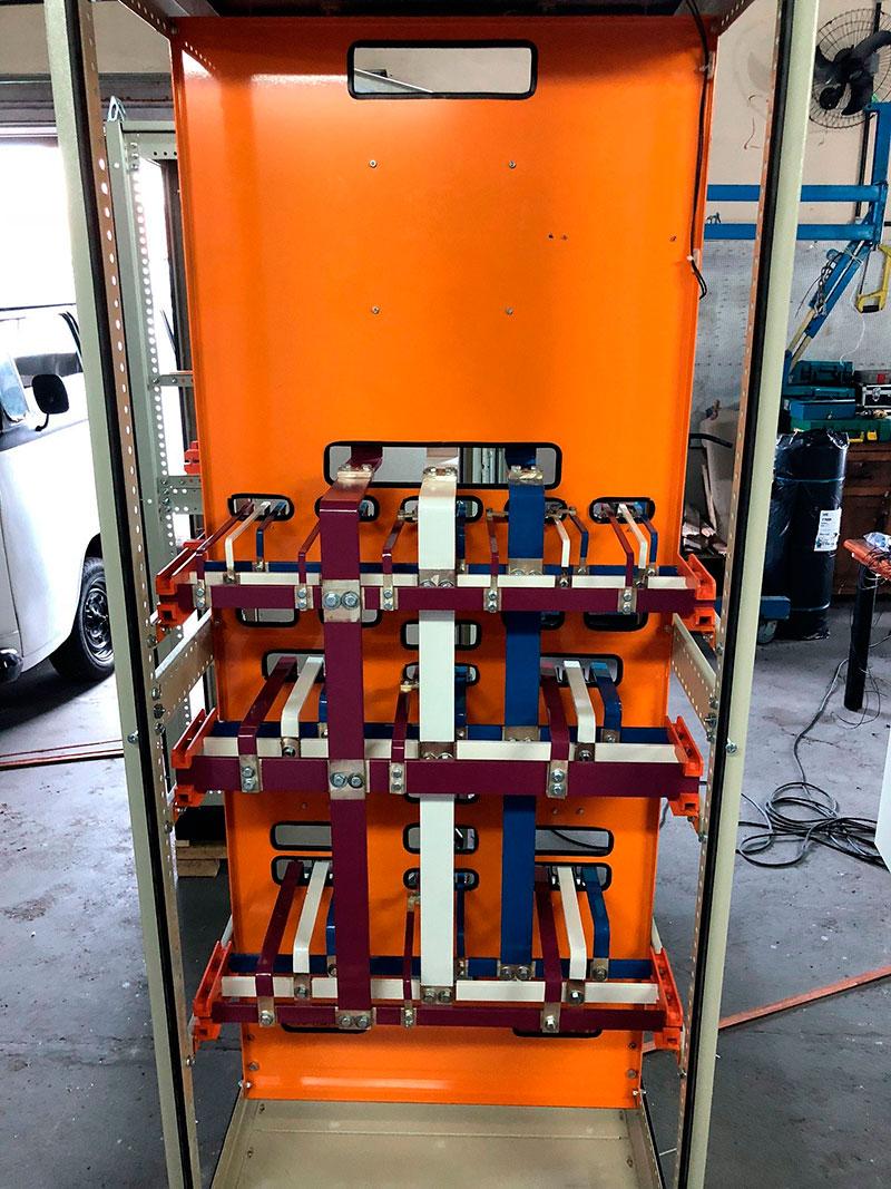 Painel elétrico montagem